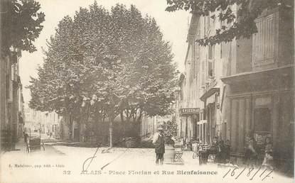 """CPA FRANCE 30 """"Alès, Place Florian"""""""