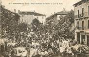 "38 Isere / CPA FRANCE 38 ""Beaurepaire, place Ferdinand de Barrin """