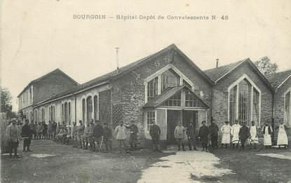 """/ CPA FRANCE 38 """"Bourgoin, hôpital Dépôt de Convalescents"""""""