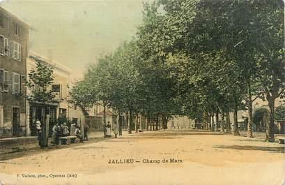 """/ CPA FRANCE 38 """"Bourgoin, Jallieu, champ de Mars"""""""