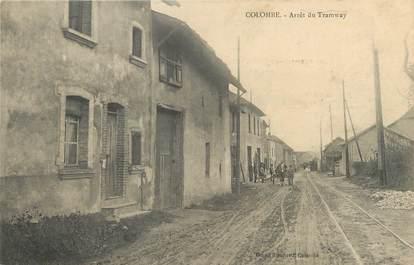 "/ CPA FRANCE 38 ""Colombe, arrêt du tramway"""