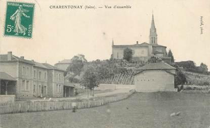 "/ CPA FRANCE 38 ""Charentonay, vue d'ensemble"""