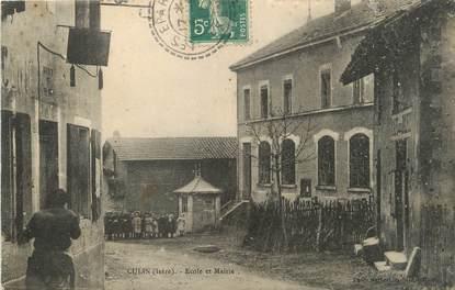 """/ CPA FRANCE 38 """"Culin, école et mairie"""""""