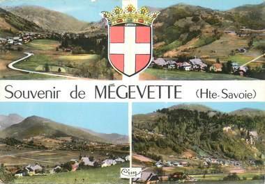 """/ CPSM FRANCE 74 """"Souvenir de Mègevette"""""""