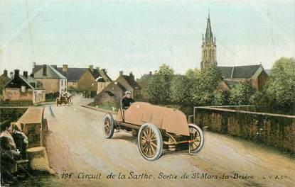 """CPA FRANCE 72 """"Circuit de la Sarthe, sortie de Saint Mars la Brière"""" / AQUA PHOTO / AUTOMOBILE"""