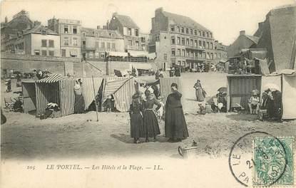 """CPA FRANCE 62 """"Le Portel, les Hotels et la plage"""""""