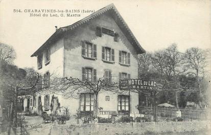 """/ CPA FRANCE 38 """"Charavines Les Bains, hôtel du Lac"""""""
