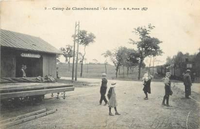 """/ CPA FRANCE 38 """"Camp de Chambarand, la gare"""""""