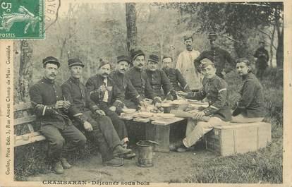 "/ CPA FRANCE 38 ""Chambaran, déjeuner sous bois"""