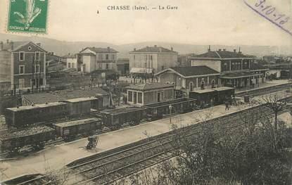 """/ CPA FRANCE 38 """"Chasse, la gare """""""