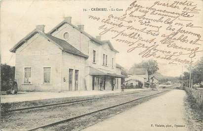 """/ CPA FRANCE 38 """"Crémieu, la gare"""""""