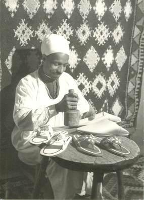 "CPSM  MAROC ""Marrakech, fabricant de babouches"""