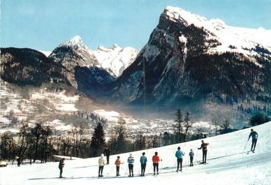 "/ CPSM FRANCE 74 ""Samoëns, leçon de ski à Vercland"""