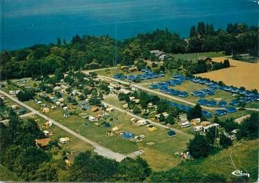 """/ CPSM FRANCE 74 """"Yvoire, vue aérienne du Camping """""""