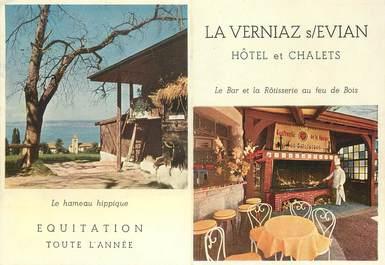 """/ CPSM FRANCE 74 """"La Verniaz sur Evian, hôtel et chalets"""""""