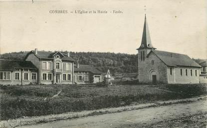 """CPA FRANCE 55 """"Combres, l'Eglise et la Mairie, Ecole"""""""