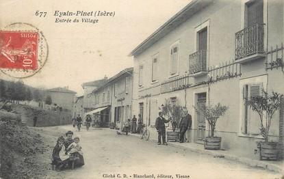 """/ CPA FRANCE 38 """"Eyzin Pinet, entrée du village"""""""