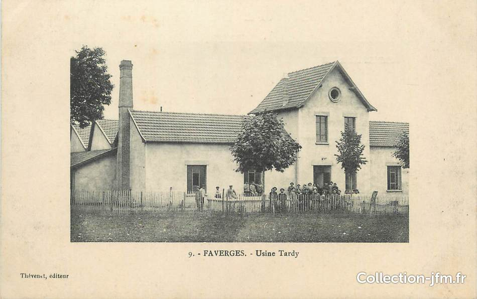 Cpa france 38 faverges usine tardy 38 isere for Chalet tardy