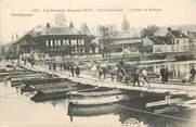 """60 Oise CPA FRANCE 60 """"Creil, bombardé, le Pont de Bateaux"""""""