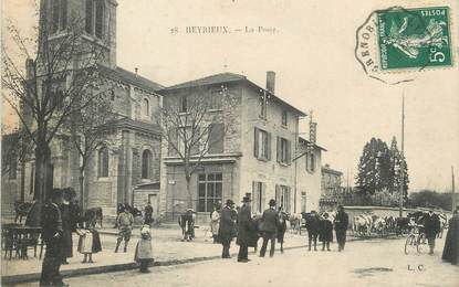 """/ CPA FRANCE 38 """"Heyrieux, la poste"""""""