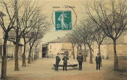 """/ CPA FRANCE 38 """"Izeaux, la place"""""""