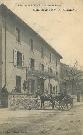 """/ CPA FRANCE 38 """"Route de Leveau, café restaurant F. Chanal"""""""