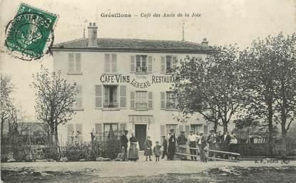 """CPA FRANCE 78 """"Poissy, Grésillons, café des amis"""""""