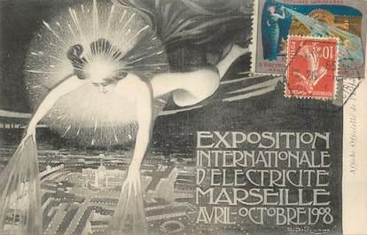 """CPA FRANCE 13 """"Exposition internationale d'Electricité Marseille 1908"""" / ART NOUVEAU"""