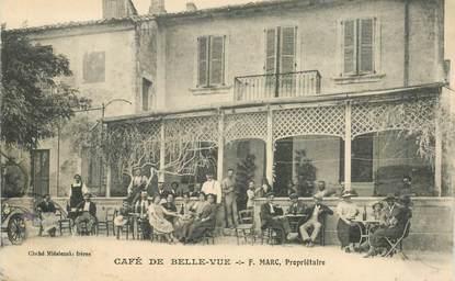 """CPA FRANCE  43 """"Bellevue la Montagne, Café de Belle vue"""""""