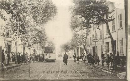 """CPA FRANCE  83 """"Toulon, Saint Jean du Var, le faubourg"""" / TRAMWAY"""