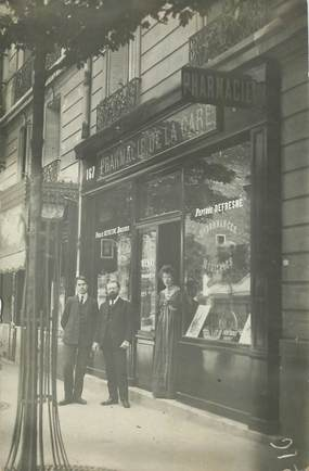 """CARTE PHOTO FRANCE  92 Boulogne, Pharmacie de la gare"""""""
