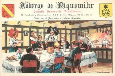 "/ CPSM FRANCE 75002 ""Paris, Auberge de Riquewihr"" / BRASSERIE"