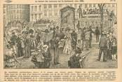 """75 Pari / CPA FRANCE 75002 """"Paris, la lecture des journaux sur le boulevards"""""""