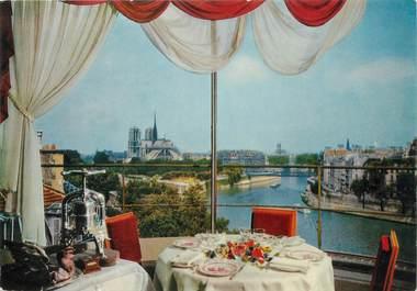 """/ CPSM FRANCE 75004 """"Paris, le chevet de Notre Dame vu du restaurant La Tour d'Argent"""""""