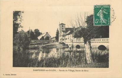 """CPA FRANCE 70 """"Dampierre sur Salon, entrée du village, route de Gray"""""""