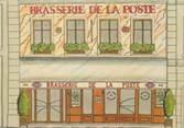 """75 Pari / CPSM FRANCE 75016 """"Paris, brasserie de la Poste"""""""