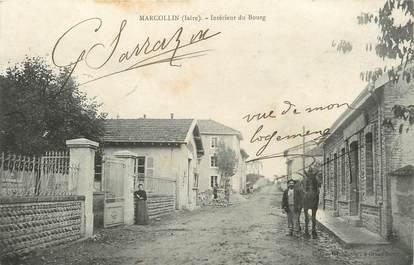 """/ CPA FRANCE 38 """"Marcollin, intérieur du bourg"""""""