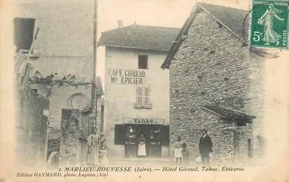 "/ CPA FRANCE 38 ""Marlieu Bouvesse, hôtel Giroud"""