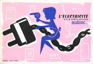 CPSM  PUBLICITE / ELECTRICITE