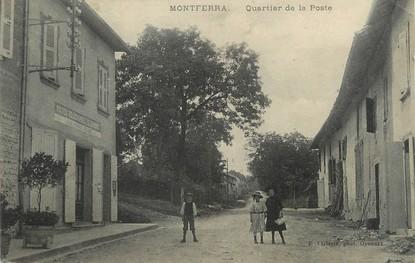 """/ CPA FRANCE 38 """"Montferra, quartier de la poste"""""""
