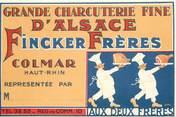 Theme   CPSM  PUBLICITE / COLMAR Charcuterie d'alsace / HANSI