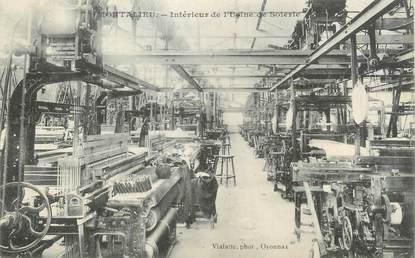 """/ CPA FRANCE 38 """"Montalieu, intérieur de l'usine de soierie"""""""