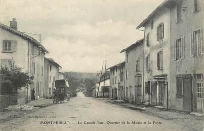 """/ CPA FRANCE 38 """"Montferrat, la grande rue"""""""