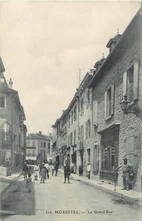 "/ CPA FRANCE 38 ""Morestel, la grande rue"""
