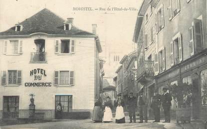 """/ CPA FRANCE 38 """"Morestel, rue de l'hôtel de ville"""""""