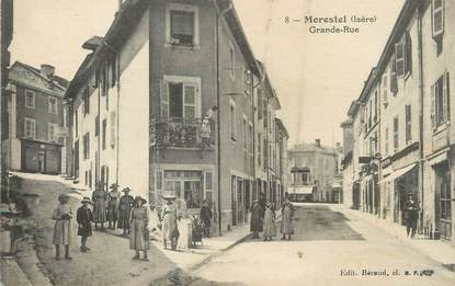 "/ CPA FRANCE 38 ""Morestel, grande rue"""
