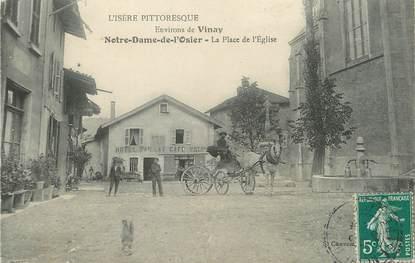 """/ CPA FRANCE 38 """"Notre Dame de l'Osier, la place de l'église"""""""