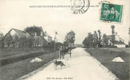 """CPA FRANCE 76 """"Saint Sauveur Emalleville, la Rte de Goderville"""""""