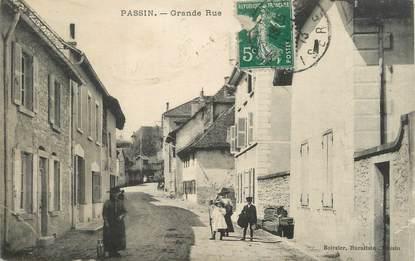 "/ CPA FRANCE 38 ""Passin, grande rue"""