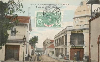 "CPA SÉNÉGAL ""Dakar, la banque et la rue Descemet"""